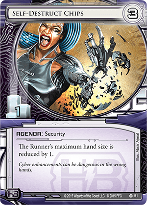 Android Netrunner Self-Destruct Chips Image