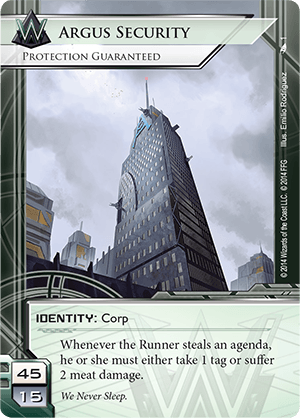 Android Netrunner Argus Security: Protection Guaranteed Image