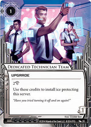 Android Netrunner Dedicated Technician Team Image