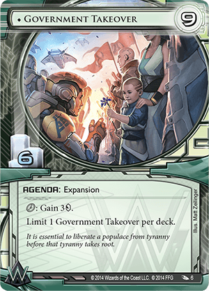 Android Netrunner Government Takeover Image
