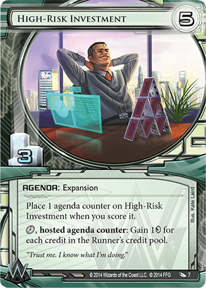 Android Netrunner High-Risk Investment Image