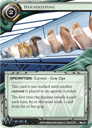 Android Netrunner Housekeeping Image