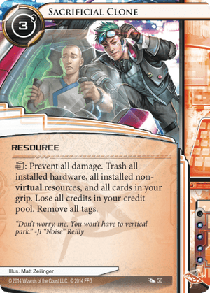 Android Netrunner Sacrificial Clone Image