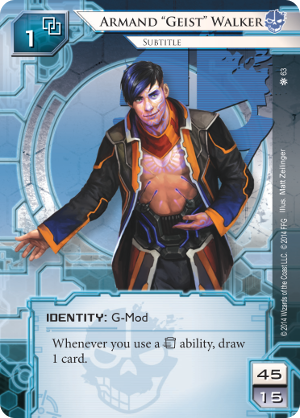 "Android Netrunner Armand ""Geist"" Walker: Tech Lord Image"