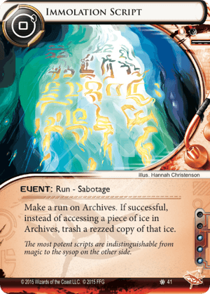 Android Netrunner Immolation Script Image