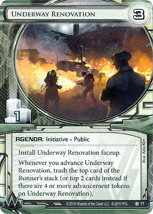 Android Netrunner Underway Renovation Image