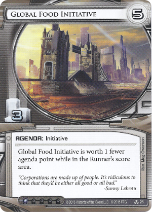 Android Netrunner Global Food Initiative Image