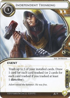 Android Netrunner Independent Thinking Image