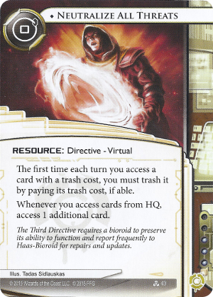 Android Netrunner Neutralize All Threats Image