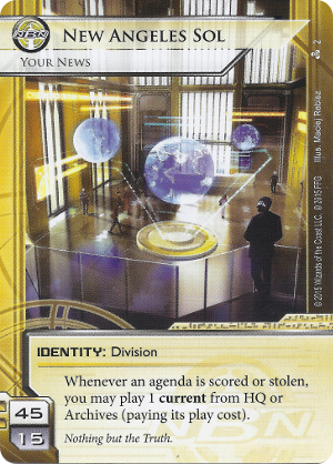 Android Netrunner New Angeles Sol: Your News Image