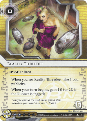 Android Netrunner Reality Threedee Image