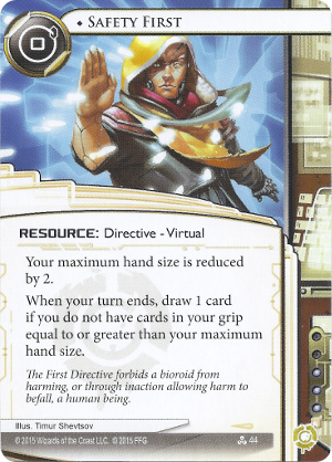 Android Netrunner Safety First Image