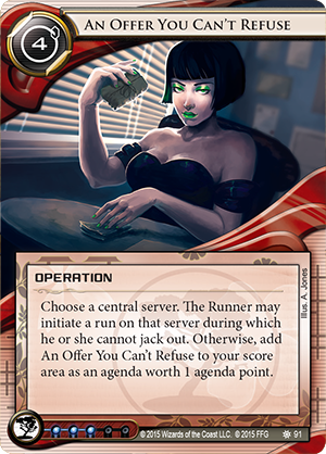 Android Netrunner An Offer You Can't Refuse Image