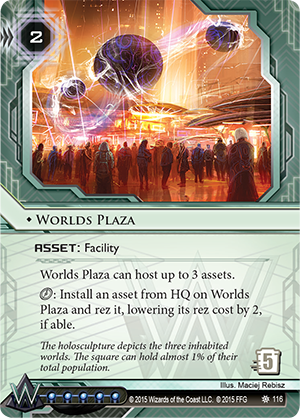 Android Netrunner Worlds Plaza Image