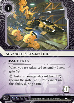 Android Netrunner Advanced Assembly Lines Image