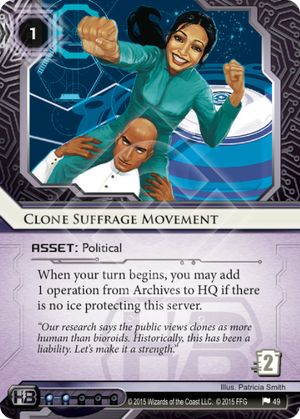 Android Netrunner Clone Suffrage Movement Image
