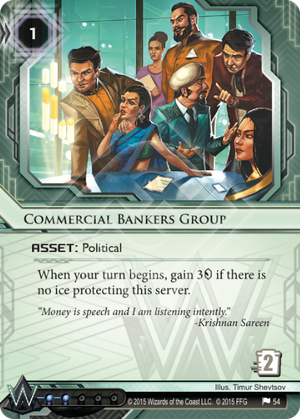 Android Netrunner Commercial Bankers Group Image