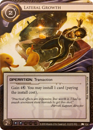 Android Netrunner Lateral Growth Image