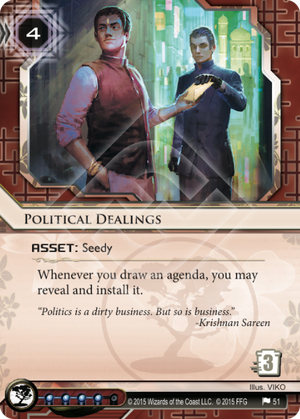 Android Netrunner Political Dealings Image