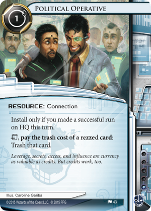 Android Netrunner Political Operative Image