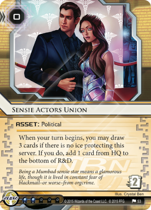 Android Netrunner Sensie Actors Union Image