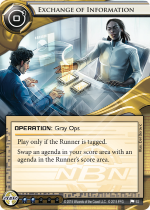 Android Netrunner Exchange of Information Image