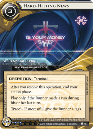 Android Netrunner Hard-Hitting News Image