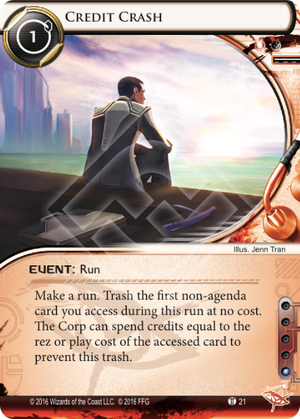 Android Netrunner Credit Crash Image