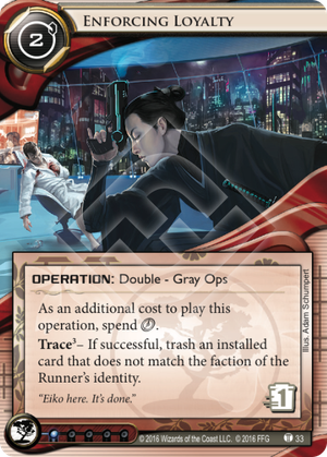 Android Netrunner Enforcing Loyalty Image