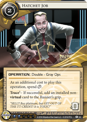 Android Netrunner Hatchet Job Image