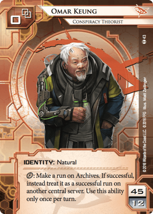 Android Netrunner Omar Keung: Conspiracy Theorist Image
