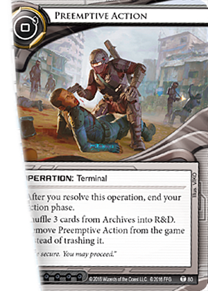 Android Netrunner Preemptive Action Image