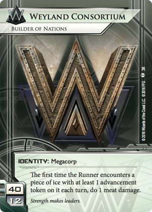 Android Netrunner Weyland Consortium: Builder of Nations Image