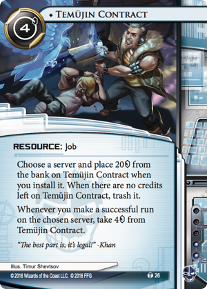 Android Netrunner Temüjin Contract Image