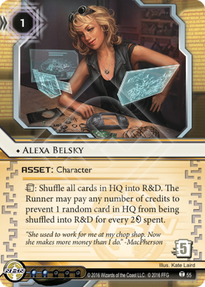 Android Netrunner Alexa Belsky Image