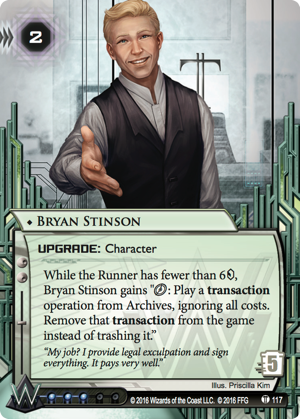 Android Netrunner Bryan Stinson Image