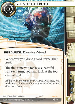 Android Netrunner Find the Truth Image