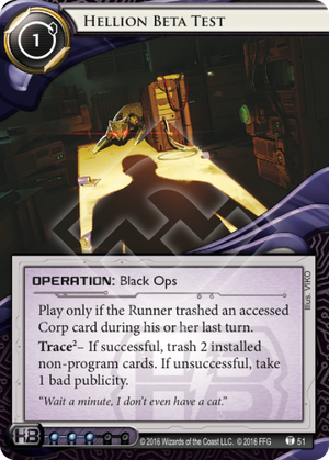 Android Netrunner Hellion Beta Test Image