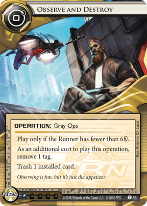 Android Netrunner Observe and Destroy Image