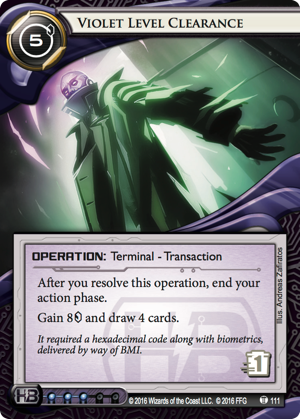 Android Netrunner Violet Level Clearance Image