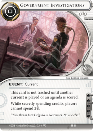 Android Netrunner Government Investigations Image