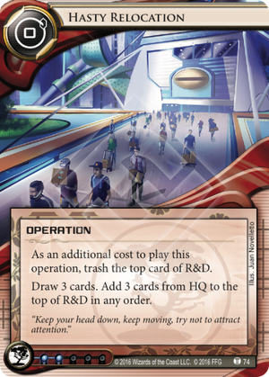 Android Netrunner Hasty Relocation Image