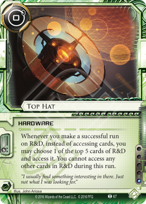 Android Netrunner Top Hat Image