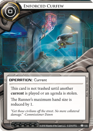 Android Netrunner Enforced Curfew Image