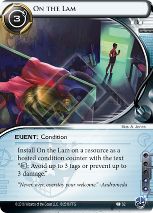 Android Netrunner On the Lam Image