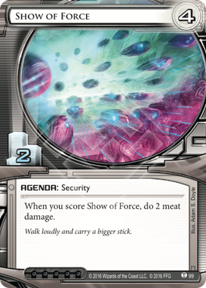 Android Netrunner Show of Force Image