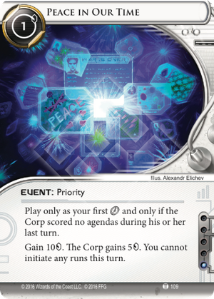 Android Netrunner Peace in Our Time Image