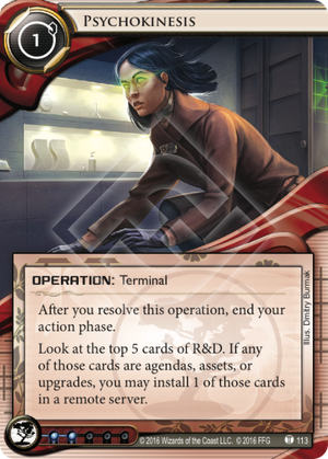 Android Netrunner Psychokinesis Image