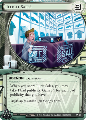 Android Netrunner Illicit Sales Image