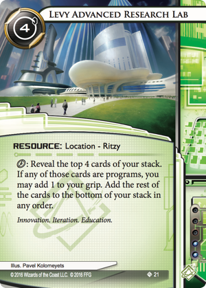 Android Netrunner Levy Advanced Research Lab Image